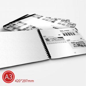 膠環:黑白/A3/單面列印