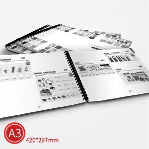膠環:黑白/A3/雙面列印