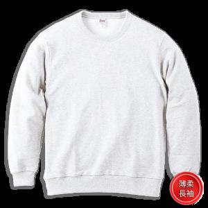 白色001-薄柔長袖T-shirt