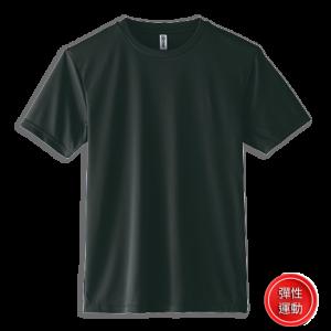 黑色005-彈性運動T-shirt
