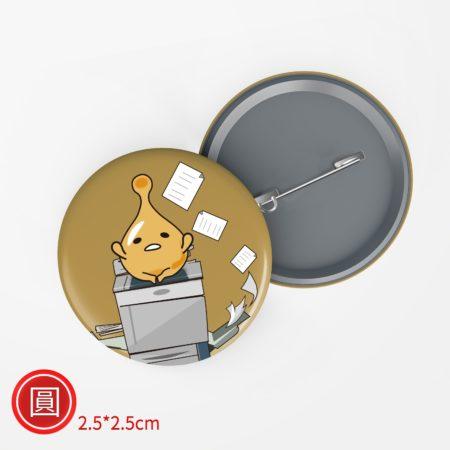 圓形胸章-2.5x2.5cm