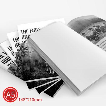 膠裝:黑白/A5/單面列印